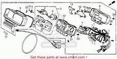 honda cb650sc nighthawk 1984 e usa speedometer tachometer schematic partsfiche