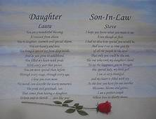DAUGHTER & SON IN LAW PERSONALIZED POEM ANNIVERSARY GIFT