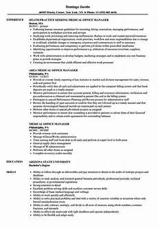 medical office manager resume sles velvet