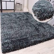 Hochflor Teppich Grau - shaggy teppich hochflor langflor leicht meliert in t 252 rkis