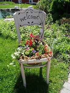 Deko Stuhl Garten - painted welcome garden chair gardening garten deko