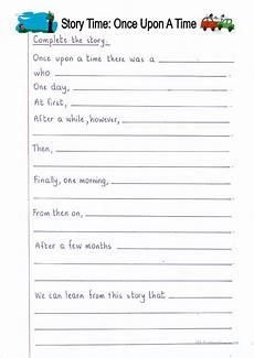 writing stories worksheets 22269 read and complete once upon a time story writing worksheet free esl printable worksheets