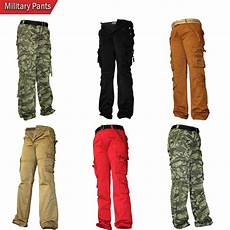 mens 100 cotton casual fit trousers slim style camouflage