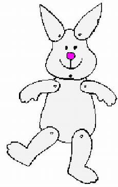 Bunny Puppet Printable Craft For Easter Monthly Seasonal