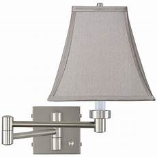 pewter gray square brushed nickel swing arm wall l 17a44 ls plus