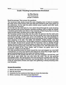 worksheets for 7th grade 18180 seventh grade reading worksheets reading comprehension worksheets comprehension worksheets
