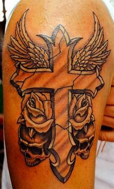 atomik cross tattoo