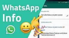 alte whatsapp status ist jetzt wieder verf 252 gbar