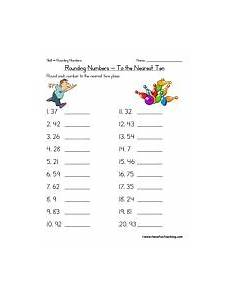 free math worksheets for rounding 8101 rounding to the nearest ten worksheet rounding worksheets teaching math second grade math