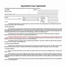Apartment Lease Nyc Pdf by Sle Apartment Rental Agreement Template 7 Free