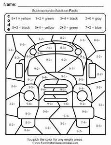 2nd grade math worksheet color by number 2nd grade go math 3 5 relating addition and subtraction