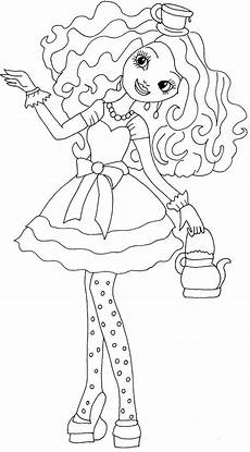 free printable ever after high coloring pages madeline hatter ever after high coloring page
