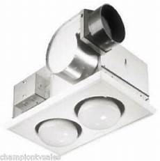 broan nutone 164 bathroom exhaust fan heater combo 70cfm 2 bulb new 884574 ebay