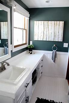 Can Bathroom Wall Tile Be Painted by How To Paint Tile Countertops And Our Modern Bathroom