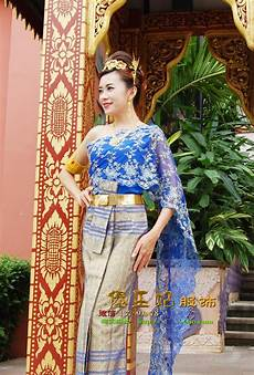 traditional dresses of south asia aliexpress com buy south east asia thailand laos blue