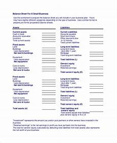 free 14 sle balance sheet templates in pdf ms word