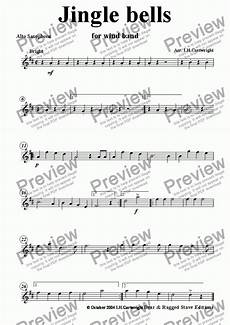 alto sax part from jingle bells for wind band sheet music