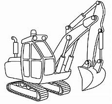 excavator outline coloring pages print