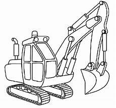 Malvorlagen Bagger Traktor Excavator Outline Coloring Pages Print