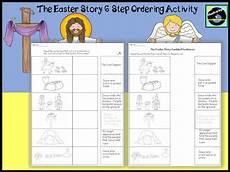 the easter story 6 step ordering worksheet teaching resources
