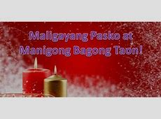 merry christmas in philippine languages