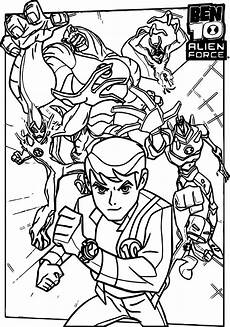 awesome ben 10 alien force cast poster coloring page coloring pages ben 10 alien force
