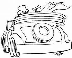 hochzeitsauto cabrio ausmalbild malvorlage auto