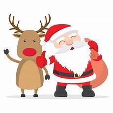 decorative stickers santa and reindeer