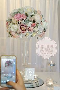 tall glass vase centerpiece hire sydney 2 wedding decorations by naz