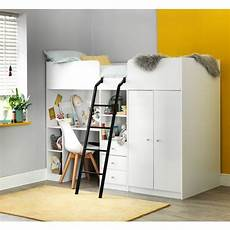 Hochbett Kaufen - buy home ohio single high sleeper bed frame white at