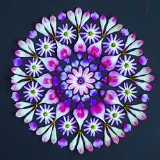 Mandala Blumen - beautiful mandalas made from flowers by kathy klein