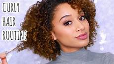 my curly hair routine bleached color treated hair youtube