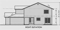 side view house plans triplex house plans triplex house plans with garage d 437
