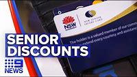 Big discounts on senior cards | 9 News Australia