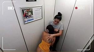 Lesbian Sex In Elevator