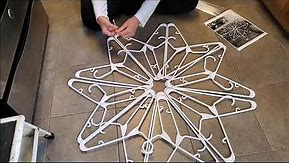 #1 how to make a ( dollar store ) plastic hanger snowflake decoration diy first