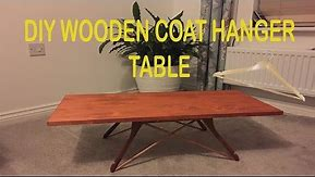 DIY WOODEN COAT HANGER MINI COFFEE TABLE