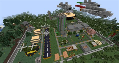 Detailed Army Base Created By Folks On Our Server Minecraft