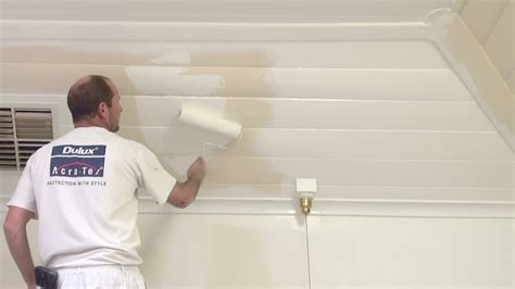 Diy Kitchen Makeover Ideas - how to paint wood paneling how to paint a wood or timber panel ceiling youtube