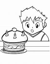 Coloring Netart Cake Cheese Mac Birthday Amazed Boy His Kraft Template sketch template