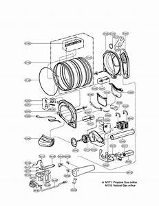 Drum  U0026 Motor Diagram And Parts List For Lg Dryer