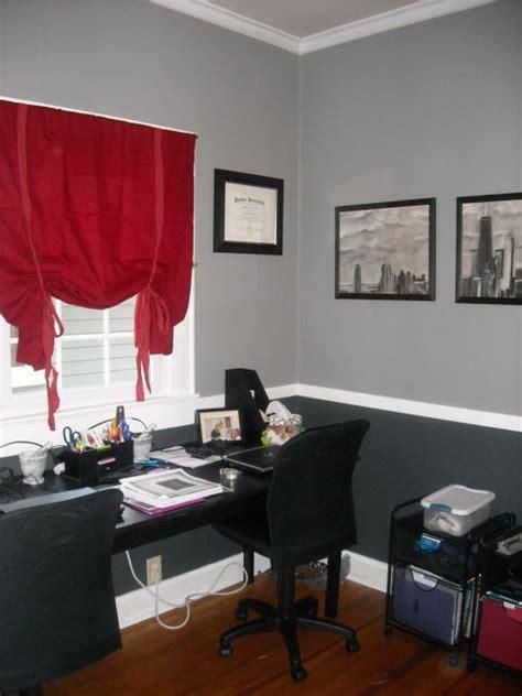 home office idea black white  gray