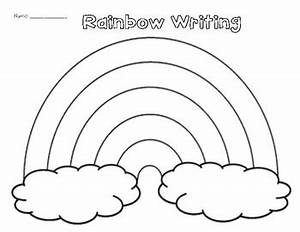 rainbow writing spelling words template - rainbow writing worksheet by miss g 39 s class teachers pay