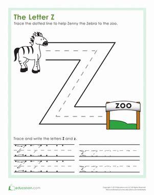 letter  worksheet educationcom