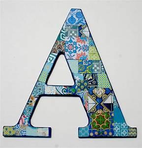 nursery letter a decoupage letter alphabet letter wood With decrative letters