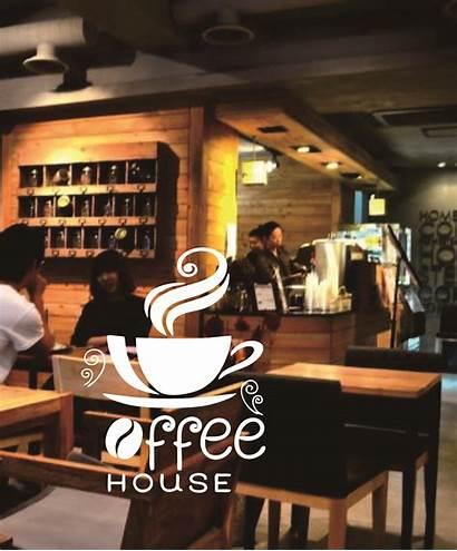 Makan Dinding Rumah Cafe Toko Kaca Wow