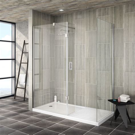 Step In Shower Enclosures by Saturn Walk In Shower Enclosure With Side Hinged Return