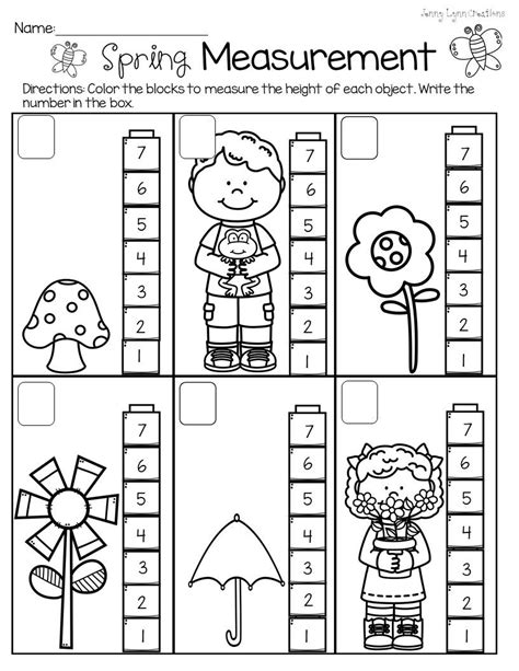 spring measurement preschool worksheets preschool worksheets school worksheets 1st grade