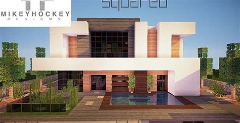 minecraft house ideas modern squared modern home minecraft house design