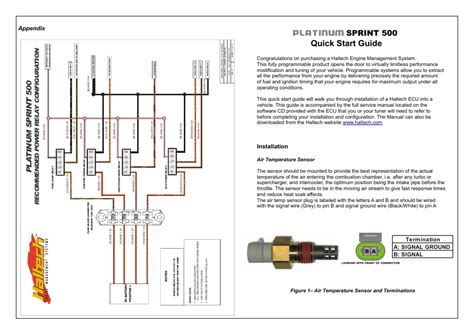 platinum start guide sprint 500 haltech platinum sprint 500 ht050700 user manual